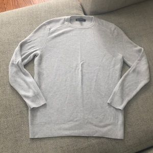 INC Ribbed Stone Colored Gray Sweater
